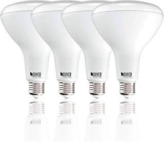 Sunco Lighting 4 Pack BR40 LED Bulb, 17W=100W, Dimmable, 3000K Warm White, E26 Base, Indoor Flood Light for Cans- UL & Energy Star