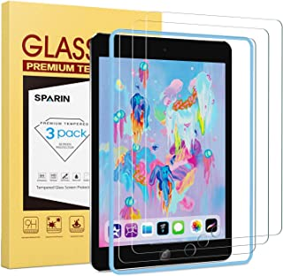 [3 Pack] Screen Protector for iPad 9.7 (2018 & 2017) / iPad Pro 9.7, SPARIN Tempered Glass with Apple Pencil Compatible/Ultra Clear/Scratch Resistant