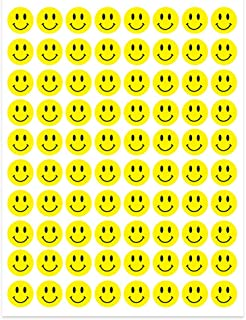 ملصقات هابي سمايلي فيس المنقطة الصفراء من شركة هاي جلوس، 240 ملصق - 1.27 سم، 3 أوراق