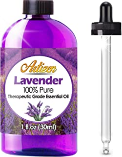 Artizen Lavender Essential Oil (100% Pure & Natural - Undiluted) Therapeutic Grade - Huge 1oz Bottle - Perfect for Aromath...