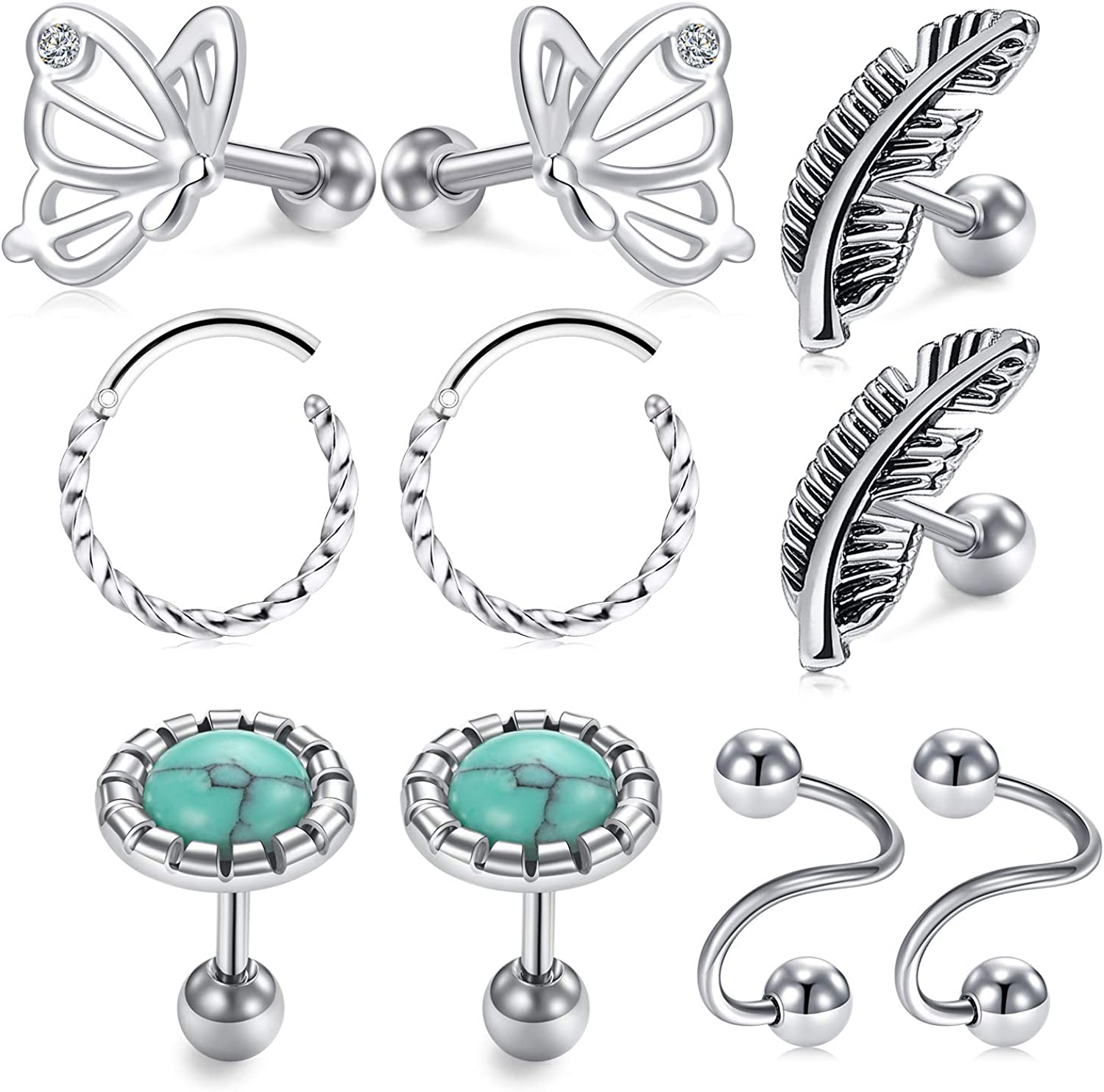 LAURITAMI 16g Tragus Helix Earrings E Earring Ear Stud Direct 40% OFF Cheap Sale store Cartilage