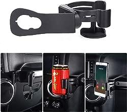 ZGBADMAN JK Cup Holder Phone Mount, Multi - Function Drink Cup Phone Holder, Bolt-on Stand Bracket Organizer for 2011-2017 Jeep Wrangler JK