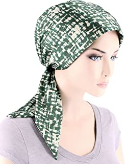 Chemo Fashion Scarf Easy Tie Padded Cotton Lined Turban Hat Headwear for Cancer