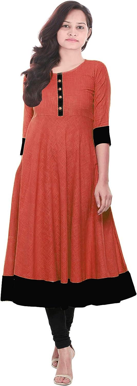 Lakkar Haveli Indian Women's Long Dress Black & Red Color Wedding Wear Casual Tunic Girl's Frock Suit Maxi Dress