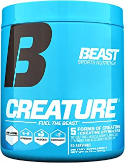 Beast Sports Nutrition – Creature Creatine Complex with Creapure® – Fuel Muscle Growth – Increase Strength – Enhance Endur...
