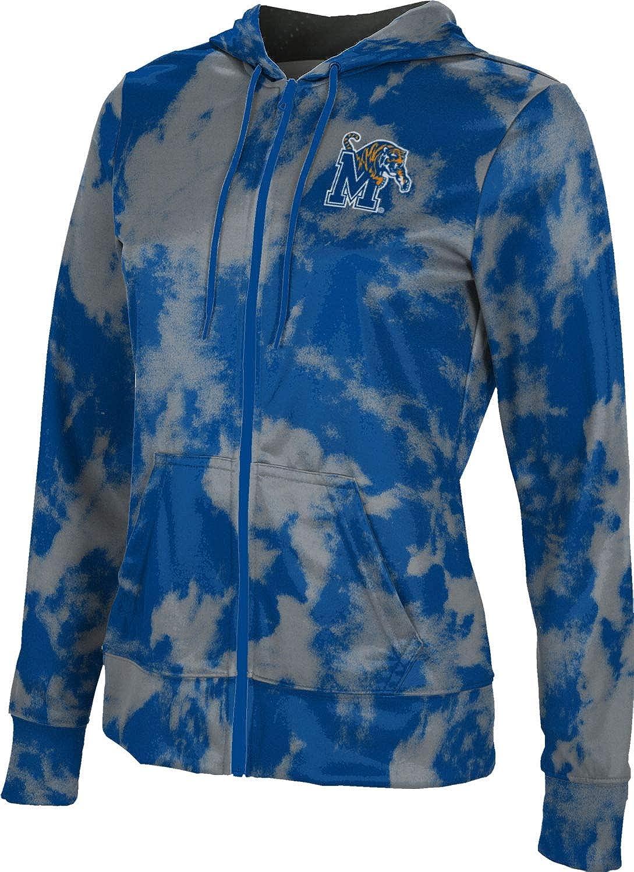 ProSphere University of Memphis Girls' Zipper Hoodie, School Spirit Sweatshirt (Grunge)