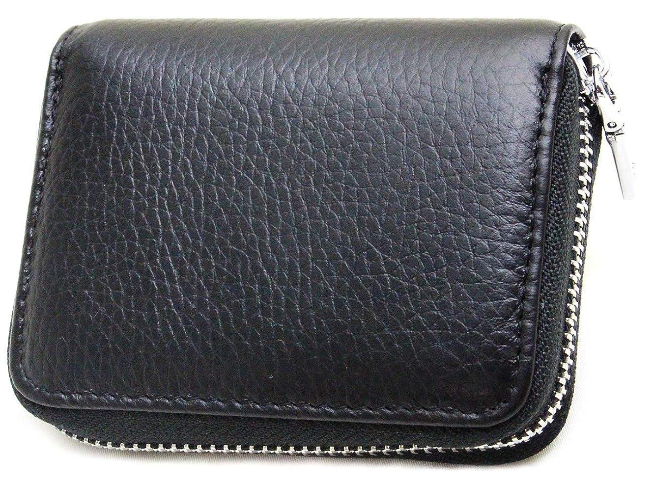 ほとんどの場合アテンダント財布[motto] 【高級本革カウレザー】 便利なミニマル財布としても使える 大容量じゃばら牛革カードケース コインケース 小銭入れ mzyo-0013