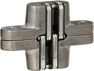 SOSS 208 Zinc Invisible Hinge with Holes for Wood or Metal Applications, Mortise Mounting, Unplated