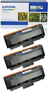 SuperInk 3 Pack Replacement Compatible MLT-D116L 116L 116 Toner Cartridge Black for Samsung Xpress SL-M2625 M2825DW M2675FN M2875FD M2835 M2626D M2885FW M2876FH Printer, High Yield 3000 Pages