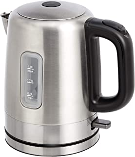 AmazonBasics Stainless Steel Electric Kettle with Water Indicator- 1-Litre (2200 Watt)