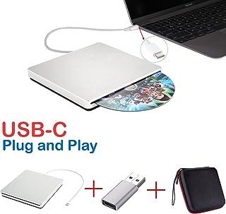 Lecteur Graveur DVD/CD Externe SuperDrive USB-C USB de Type C pour MacBook Air/iMac/Mac..