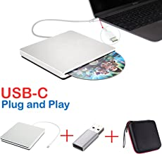 Lecteur Graveur DVD/CD Externe SuperDrive USB-C USB de Type C pour MacBook Air/iMac/Mac..
