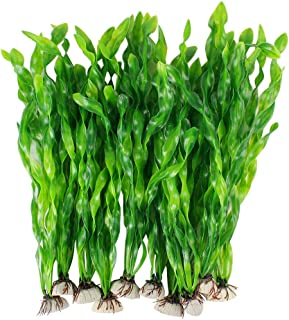 MyLifeUNIT Artificial Seaweed Water Plants for Aquarium, Plastic Fish Tank Plant Decorations 10 PCS