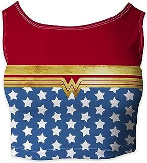 Rainbow Rules Wonder Woman Super Hero Inspired Sleeveless Crop Top