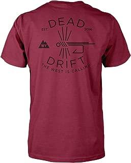 Dead Drift Fly Hooked Logo Fly Fishing T-Shirt