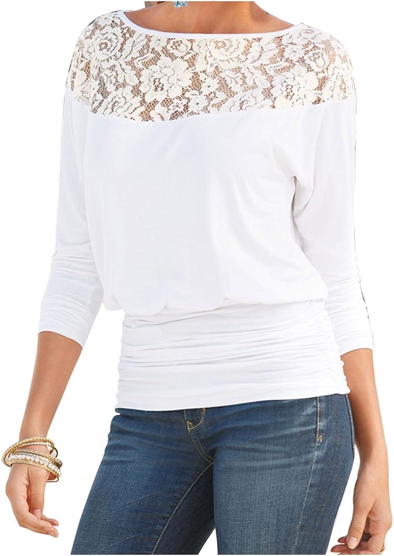Unomatch Women Summer Lace Stitched Shirt and Blouse White