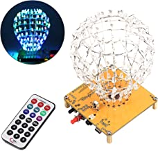 WHDTS LED Cubic Crystal Ball DIY Kits DIY Electronics Soldering Kits Funny DIY STC12C5A60S2 for Soldering Practice Learning