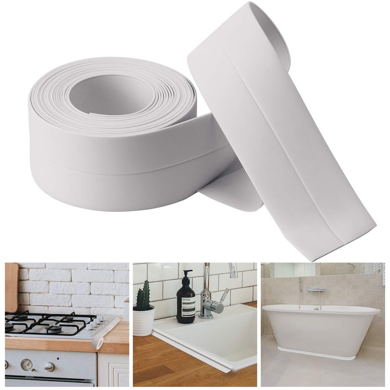 Bath & Kitchen Caulk Tape Sealant Strip,PVC Self Adhesive Tub and Wall Sealing Tape Caulk Sealer,Caulk Strip,sealant Tape,Shower Tile Sealer Adhesive sealant