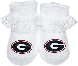 University of Georgia UGA Bulldogs Newborn Baby Lace Bootie Sock