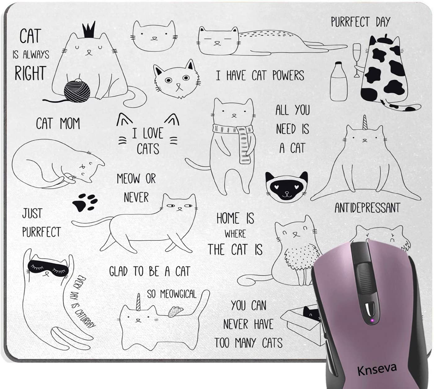 Knseva Cute Cartoon Cats Mouse of Animal store Special price for a limited time Pad Composition Doodle