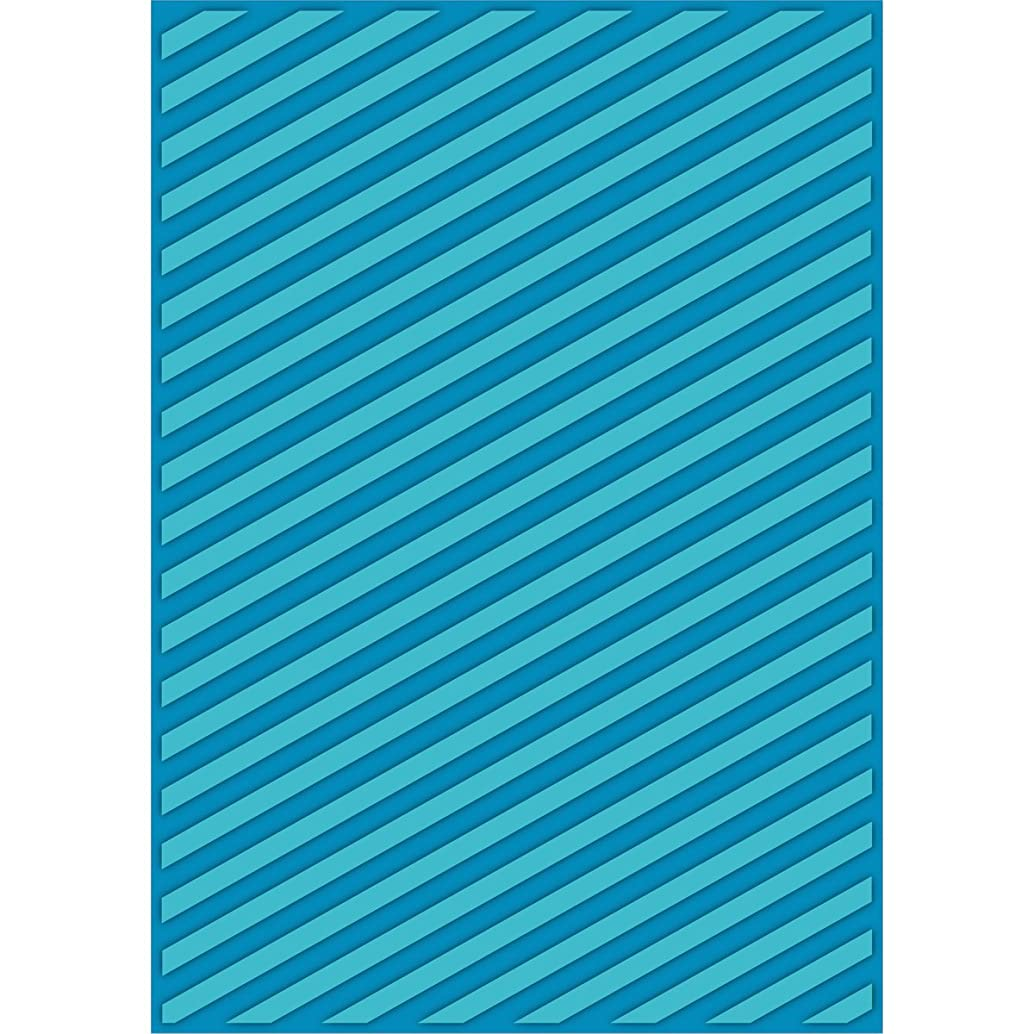 Craftwell USA Teresa Collins Embossing Folder, Modern Stripe