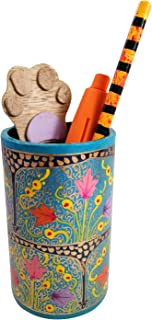 India Meets India Handmade Papier Mache Pen Holder Pencil Holder for Desk Organizer, Best for Gifting Made by Awarded/Certified Indian Artisians