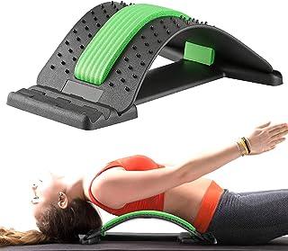 Gxhong Ryggsträckare ryggsträckare bakre stretch, ryggtränare för under och övre ländryggen, ryggsträckare ryggmassage stö...
