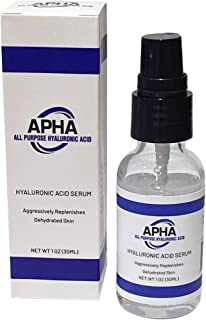 APHA All Purpose Hyaluronic Acid (1oz) for Face - 100% Pure Medical Quality Clinical Strength Formula - Anti aging formula...