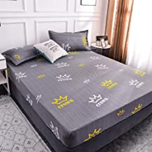 to Fit Snugly Around Your Mattress,Polyester Printed Waterproof Bed Sheet,Non-Slip Protective Cover Apartment Bedroom for ...