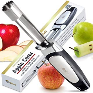 Orblue Apple Corer – Best Stainless Steel Fruit Core Remover Tool with Soft Rubber Handle