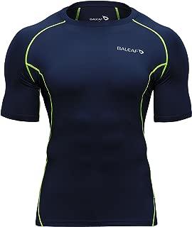 Men's Short Sleeve Running Fitness Workout Compression Base Layer Shirt