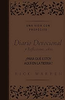 Una vida con propósito diario devocional, Leathersoft: Reflexiones sobre ¿Para qué estoy aquí en la tierra? (Spanish Edition)