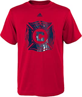 MLS by Outerstuff War Paint Logo Short Sleeve Tee, Red, Youth Boys X-Large(18)