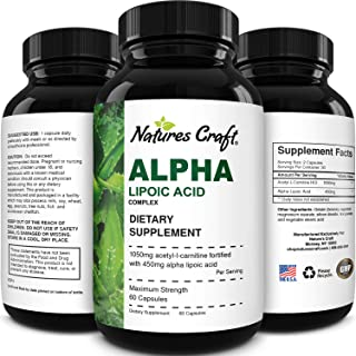 ALC and Alpha Lipoic Acid Supplements - Acetyl l-carnitine Alpha Lipoic Acid Antioxidant Supplement - Essential Fatty Acid...