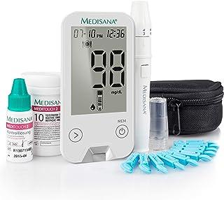 medisana MediTouch 2 bloedglucosemeter mg/dL, startset met teststrips en bloedlancetten, bloedglucosemeetsysteem voor diab...