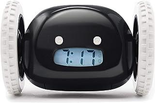 ساعة منبه كلوكي على العجلات (أصلية) | أريكة للنوم الثقيل (بالغ أو طفل غرفة نوم روبوت ساعة روبوتية) مضحكة، دحرجة، هرول، متح...