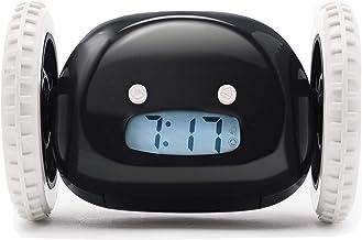 CLOCKY, Reloj Despertador Ruidoso sobre Ruedas (Original)   Forte para los Durmientes Pesados (Clockie de Habitación para Adultos y Niños) Guay, Fugitivo, Salta, Persigue, Huye, Move, Corre (Negro)