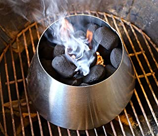 Dracarys BBQ Vortex Weber 22 Kettle Grill Accessories,Stainless Steel Whirlpool Charcoal Grill Accessories Fit Weber Kettl...