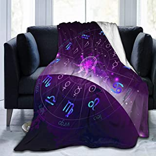 """Fleece Blanket 50"""" x 60""""-in Blue and Purple Colors. Home Flannel Fleece Soft Warm Plush Throw Blanket for Bed/Couch/Sofa/Office/Camping"""
