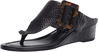 Donald J Pliner Women's Wedge Sandal, Black, 6.5