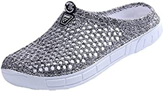 BODON Womens Summer Breathable Mesh Slippers Lightweight Mesh Clog Quick Drying Garden Shoes Footwear Anti-Slip Shoes