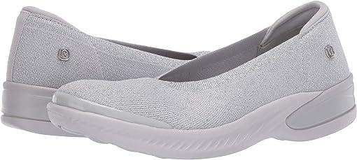 Grey Silver Metallic Knit