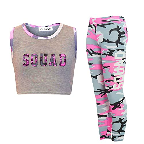 8549a0603bc4 New Girl's Brooklyn 85 New York Squad NYC Crop TOP Leggings 2 Piece Set Age  7