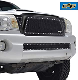 EAG Rivet Stainless Steel Wire Mesh Grille Replacement Fit for 05-11 Toyota Tacoma