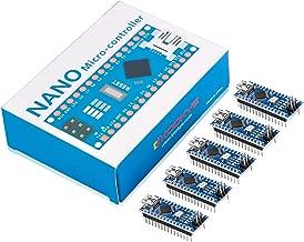 KOOKYE 5PCS Nano V3.0 ATMEGA328P Module CH340G 5V 16M Mini USB Micro-Controller Board for Arduino(Nano5)