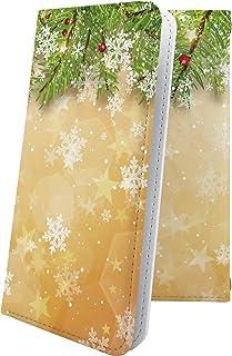 Galaxy A7 / A30 / SCV38 / A8 SCV32 マルチタイプ マルチ対応ケース ケース 手帳型 雪の結晶 雪 冬 癒し いやし 結晶 ハート love kiss キス 唇 ギャラクシー 手帳型ケース デザイン イラスト g...