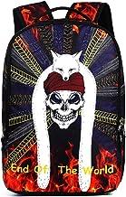 Skull Print Casual School Backpack Laptop Bag Travel Daypack for Teen Girls Boys