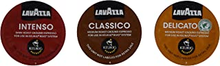 30 Count - Lavazza Sampler Pack for Keurig Rivo (3 Flavors, 10 Pods Each)No Decaf