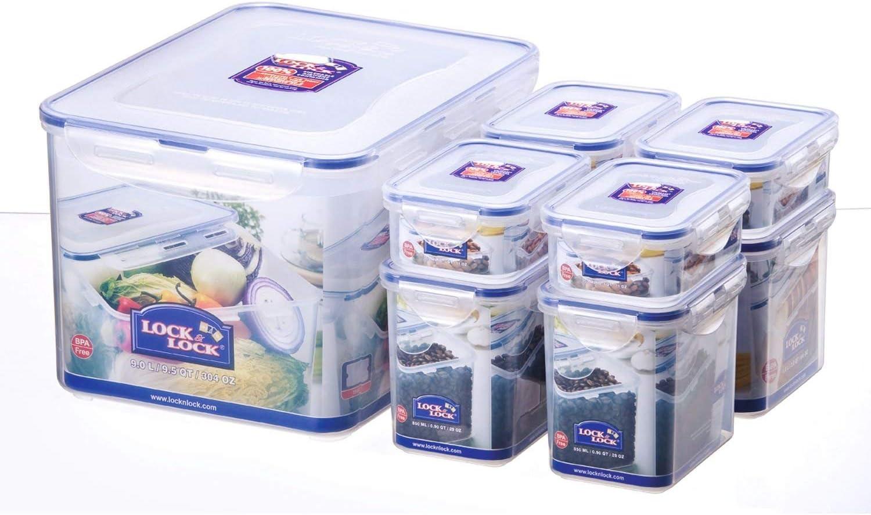 iSi Lock HPL838SA Max 77% OFF 8-Piece Multi-Usage Omaha Mall Food-Storage Se Box