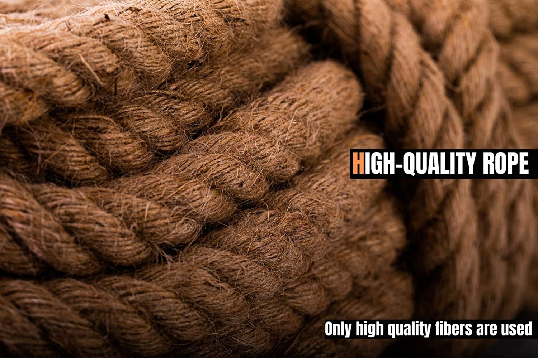 Thick Heavy Duty/ Large Decorative Hemp Rope Nautical Ropes 1 Inch 50Ft Natural Jute Rope Manila Rope 1/″/×50/′
